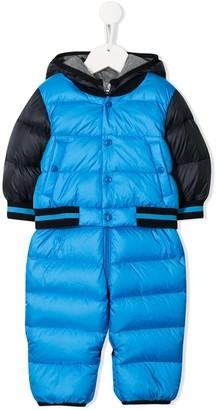 Moncler Enfant Hooded Padded Snowsuit