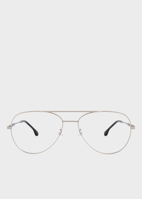 Paul Smith Large Matte Silver And Black Ink 'Angus' Spectacles