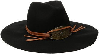San Diego Hat Company Women's Pinched Crown Floppy Fedora Hat with Metal Plate Trim