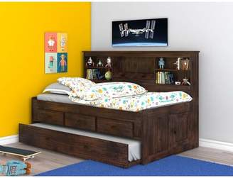 Harriet Bee Bergeson Twin Daybed with Trundle Bookcase and Drawers Harriet Bee Bed Frame Color: Chestnut