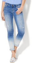 New York & Co. Soho Jeans - Painted Ombré Skinny - Poolside Blue Wash