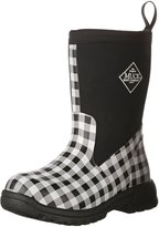 Muck Boot Kid's Breezy Mid Height Boot, Black/White Gingham, Little Kid