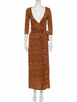 By Malene Birger Animal Print Long Dress w/ Tags Orange
