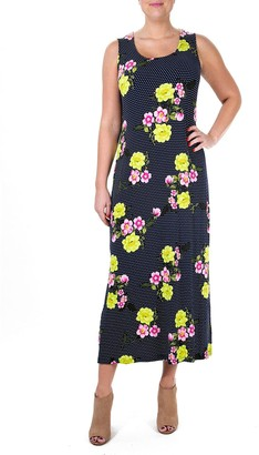 Nina Leonard Women's Print Maxi Dress