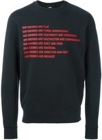 Yang Li our enemies print sweatshirt