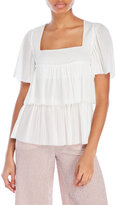 Sonia Rykiel Square Neck Tiered Blouse