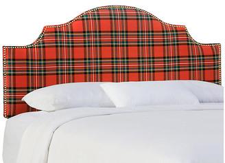 One Kings Lane Miller Headboard - Red Tartan - twin