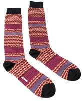 Missoni Gm00cmu5238 0002 Hot Pink/tan Knee Length Socks.