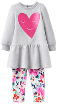 Joules Baby Joule Sylvie Sweatshirt Dress and Leggings Set, Grey Marl