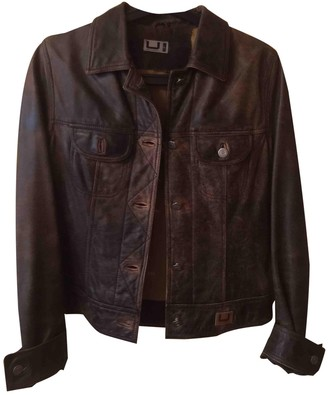 Adolfo Dominguez Brown Fur Leather Jacket for Women
