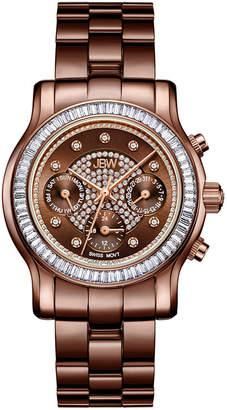 JBW Laurel 1/10 Ct. T.W. Genuine Diamond Womens Multi-Function Brown Stainless Steel Bracelet Watch-J6330i