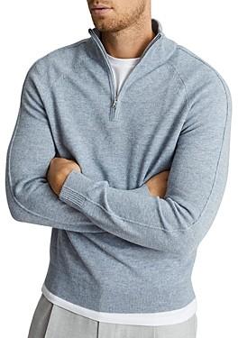 Reiss Joseph Half Zip Funnel Sweater