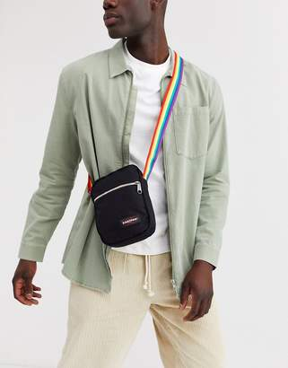 Eastpak The One Rainbow across body bag in black 2.5l
