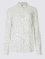 M&S Collection Spotted Long Sleeve Shirt