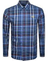 Fred Perry Long Sleeved Check Shirt Blue