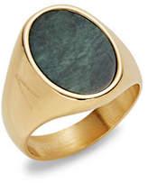 Atelic Oval Stone Goldtone Ring