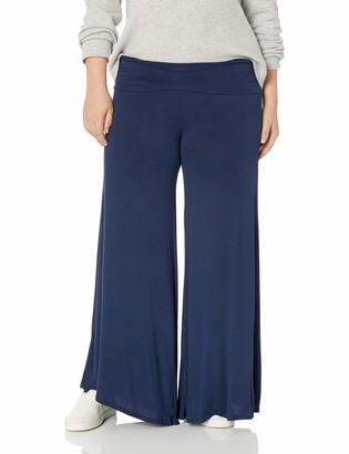 Star Vixen Women's Plus-Size Stretch Rayon Jersey Wide-Leg Palazzo Pant