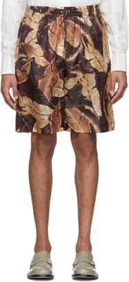 Cmmn Swdn Burgundy Leaf Cody Shorts