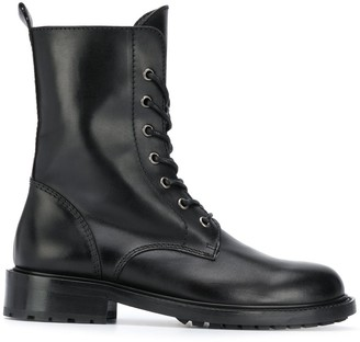 Paul Warmer Lace-Up Military Boots