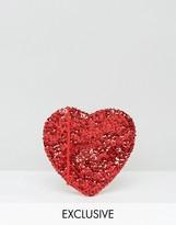 Reclaimed Vintage Mini Heart Cross Body Bag