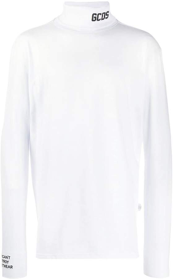 roll neck logo sweatshirt