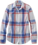 L.L. Bean L.L.Bean Signature Essential Button-Front Shirt, Plaid