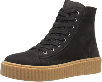J/Slides Women's Riva Fashion Sneaker Black 6.5 M US
