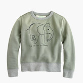 J.Crew Kids' crewcuts for David Sheldrick Wildlife Trust elephant sweatshirt