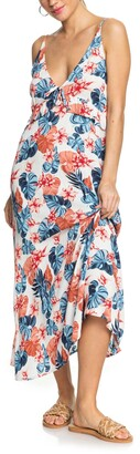 Roxy Close to Sea Floral Print Maxi Dress