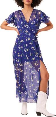 French Connection Jasmine Chiffon Faux Wrap Maxi Dress