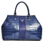 GUESS Women's Camp Croc-Embossed Trap Tote