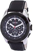 Esprit ES101891009 - Men's Watch, Leather, Black Tone