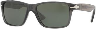 Persol Square Plastic Sunglasses, Gray