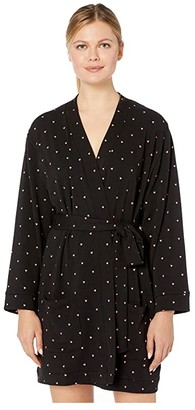 Plush Fleece-Lined Heart Pajama Robe + Scrunchie Set