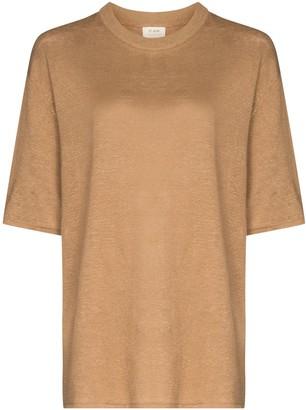 ST. AGNI Copain short-sleeve linen T-shirt