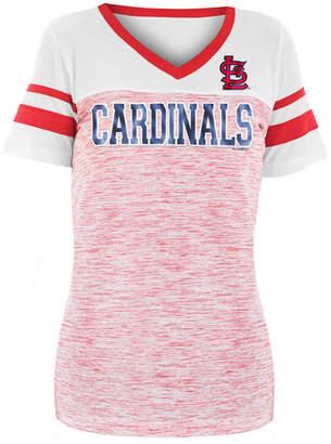 5th & Ocean Women St. Louis Cardinals Space Dye Sequin T-Shirt