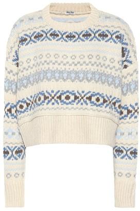 Miu Miu Fair Isle wool sweater