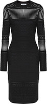 Derek Lam 10 Crosby Open-knit silk, wool and cashmere-blend dress