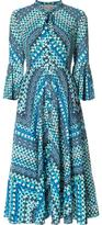 Temperley London stylised print shift dress