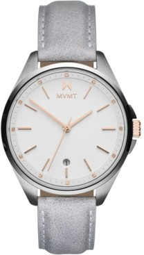 MVMT Women's Coronada-Malibu Fade Gray Leather Strap Watch 36mm