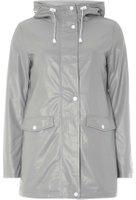 Dorothy Perkins Womens Grey Stripe Lined Raincoat- Grey