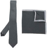 Lanvin patterned tie and pocket square