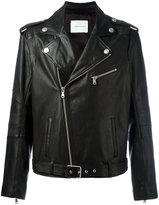 Pierre Balmain zipped biker jacket