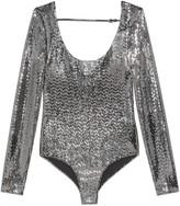 Gucci Metallic dotted jersey bodysuit