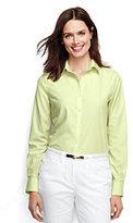 Classic Women's Petite Long Sleeve No Iron Shirt-Grape Royale