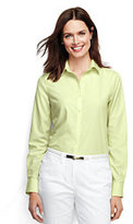 Classic Women's Tall Long Sleeve No Iron Shirt-Lime Chiffon
