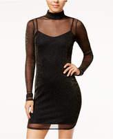 Material Girl Juniors' Metallic Mesh Bodycon Dress, Created for Macy's