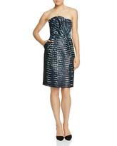 Armani Collezioni Printed Strapless Dress