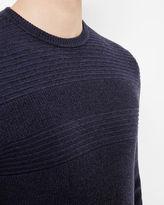 ROSSI Crew neck textured sweater