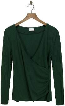 Vila Green Knit Top - L - Teal/Green